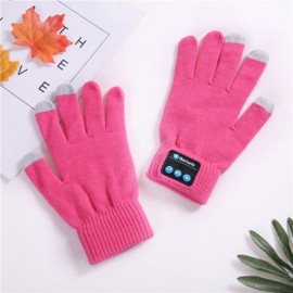 Best Winter Fashion Touch Screen Telephone Double Winter Wool Wireless Glove St3 with Speaker