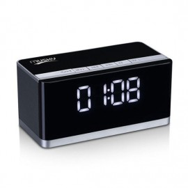 MP3 Player Home Theater System Wireless Metal Shell Outdoor Alarm Clock Bass Speakers