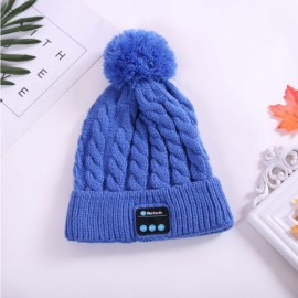 Fashion Warm Woolen Winter Acrylic Knitted Hat Wireless Earphone Sports Beanie Wm5