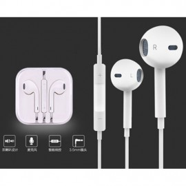 Promotional 1.2m 3.5mm Wired Cheap in-Ear Earphone with Mic for iPhone 6/6s
