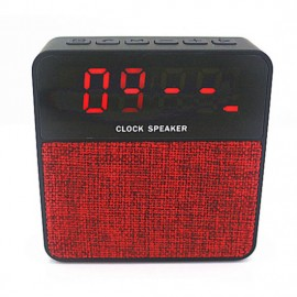 Cloth Fabric Bluetooth T1 Clock Speaker with Time Alarm Digital LCD Screen