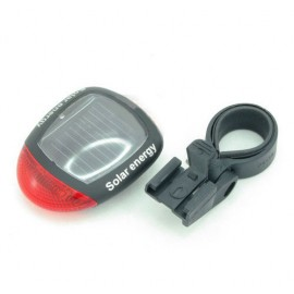 SOLAR POWERED 2 LED BICYCLE REAR SAFETY BLINKER