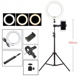 10 inch 26 cm photography ring with adjustable brightness light makeup selfie LED Lamp