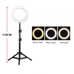 Ring Light 26cm 12W Photo Studio Dual Phone Clip LED Selfie Ring Lamp