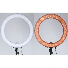18 Inch Ring Light 55W EU Plug 5500K Dimmable 240 LED Camera Photo