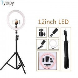 "Tycipy Ring Light 12 ""Dimmable LED Selfie Shooting Soft Light"