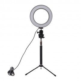 Dimmable LED Studio Camera Light with Ring