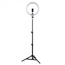 "12 ""Selfie Ring Light with Tripod Stand and Phone Holder"