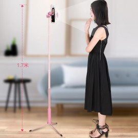 170 cm 67in Bluetooth selfie stick tripod with a ring of light