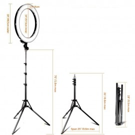 18 inch 5500K dimmable ring lamp led tripod ring ringlight Studio photography lamp